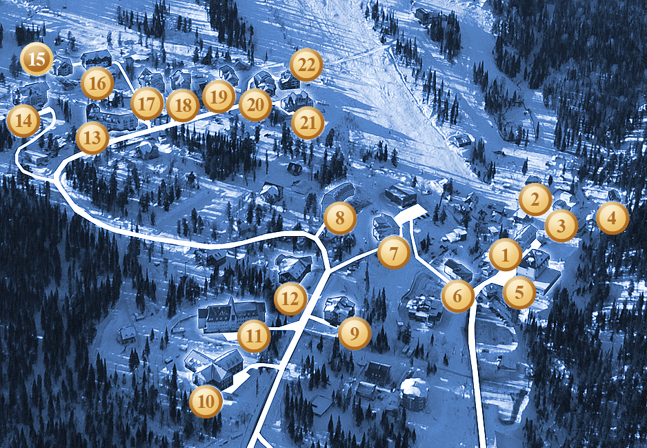 Схема трасс Шерегеша